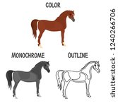 horse breed in color ...   Shutterstock .eps vector #1240266706