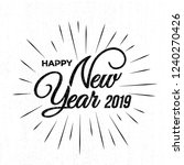 happy 2019 new year. holiday... | Shutterstock .eps vector #1240270426