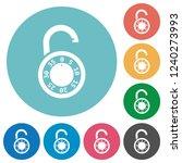 unlocked round combination lock ...   Shutterstock .eps vector #1240273993