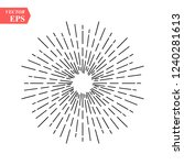 linear drawing of radial sun... | Shutterstock .eps vector #1240281613