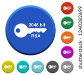 2048 bit rsa encryption round... | Shutterstock .eps vector #1240282699