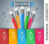 pencil  education icon.... | Shutterstock .eps vector #1240283713