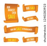 set of orange sale banners | Shutterstock .eps vector #1240283923