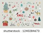 christmas objects vector set...   Shutterstock .eps vector #1240284673