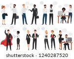 businessmen  office business... | Shutterstock .eps vector #1240287520