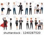 businessmen  office people... | Shutterstock .eps vector #1240287520