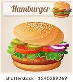 hamburger. detailed icon.... | Shutterstock . vector #1240289269