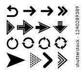 arrows. set of arrows. the... | Shutterstock .eps vector #1240289389