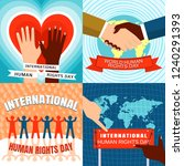 rights day banner set. flat... | Shutterstock .eps vector #1240291393
