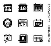 calendar icon icons set. simple ... | Shutterstock .eps vector #1240292026