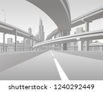 highway overpass road bridges... | Shutterstock . vector #1240292449