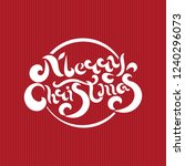 merry christmas and happy new... | Shutterstock .eps vector #1240296073