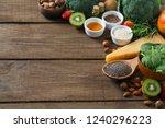 healthy food concept | Shutterstock . vector #1240296223