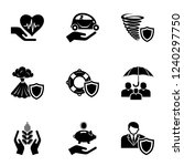 safety health icons set. simple ... | Shutterstock .eps vector #1240297750