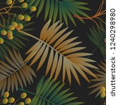 tropical palms seamless vector... | Shutterstock .eps vector #1240298980