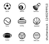 orb icons set. simple set of 9... | Shutterstock .eps vector #1240299913