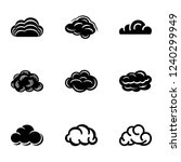 overcast icons set. simple set... | Shutterstock .eps vector #1240299949
