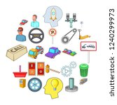 expertise icons set. cartoon... | Shutterstock .eps vector #1240299973