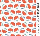 retro ditsy polka dot seamless... | Shutterstock .eps vector #1240305409