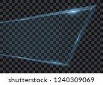 transparent glass banner  ice... | Shutterstock .eps vector #1240309069