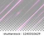 abstract shining pink beams... | Shutterstock .eps vector #1240310629