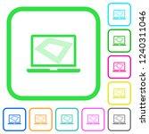 screen saver on laptop vivid... | Shutterstock .eps vector #1240311046