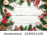 christmas decorations with... | Shutterstock . vector #1240311103