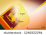 sri lanka map and colombo with... | Shutterstock . vector #1240322296