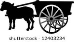 small horse cab vector