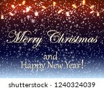 christmas background with... | Shutterstock .eps vector #1240324039