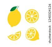 fresh lemon fruits  collection...   Shutterstock .eps vector #1240324126
