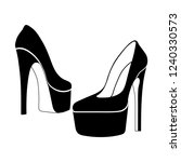 women heels  fashion wear ... | Shutterstock .eps vector #1240330573