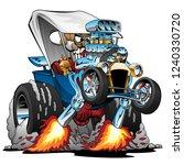 custom t bucket roadster hotrod ... | Shutterstock .eps vector #1240330720