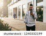 handsome smiling hipster...   Shutterstock . vector #1240332199