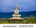 landscape. a tibetan pagoda on... | Shutterstock . vector #1240337059