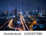 blue night cityscape and... | Shutterstock . vector #1240337080