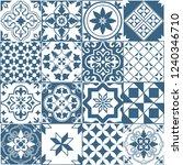 seamless pattern of tiles.... | Shutterstock .eps vector #1240346710