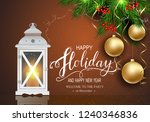 holidays greeting card for... | Shutterstock .eps vector #1240346836