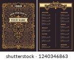 restaurant menu template.... | Shutterstock .eps vector #1240346863