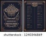 vintage restaurant menu... | Shutterstock .eps vector #1240346869