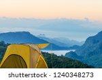 yellow tent at doi ang khang ... | Shutterstock . vector #1240348273