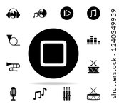 stop player icon. music icons...   Shutterstock . vector #1240349959