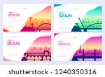 bridges of different countries. ... | Shutterstock .eps vector #1240350316