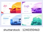 brochures with african animals... | Shutterstock .eps vector #1240350463