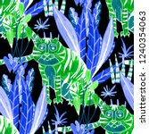 creative seamless pattern with... | Shutterstock . vector #1240354063