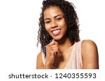 portrait of good looking... | Shutterstock . vector #1240355593