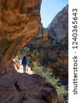 hiking trail in the canyon... | Shutterstock . vector #1240365643