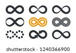 infinity symbols. repetition... | Shutterstock .eps vector #1240366900