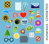 big stickers set | Shutterstock .eps vector #1240367023