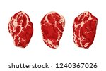 steaks on white | Shutterstock .eps vector #1240367026